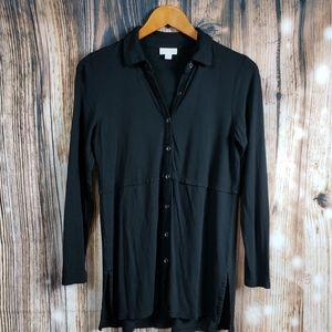 J. Jill Button Front Tunic Top Cardigan Knit Shirt
